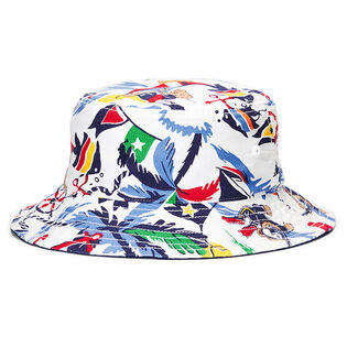 Boys' [2-4] Reversible Cotton Oxford Bucket Hat