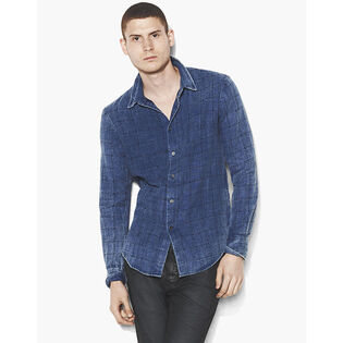 Men's Denim Window Pane Shirt