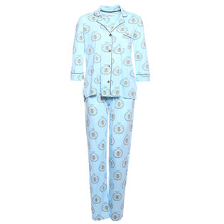 Women's Playful Printed Two-Piece Pajama Set