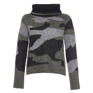 Women's Camo Mix Turtleneck Sweater