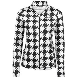 Women's Houndstooth Zip Sweater