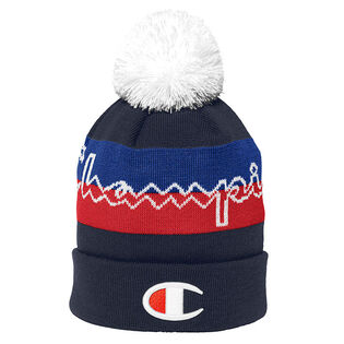 Men's Script Knit Pom Toque