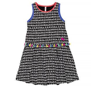 Girls' [3-6] Printed Tassel Dress