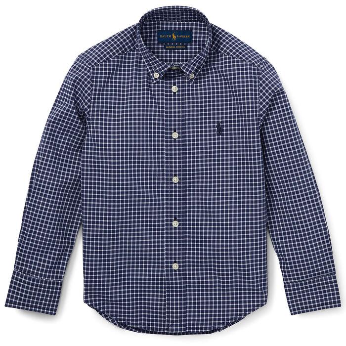 Boys' [2-4] Poplin Check Shirt
