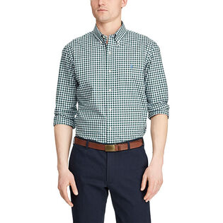 Men's Slim Fit Plaid Poplin Shirt