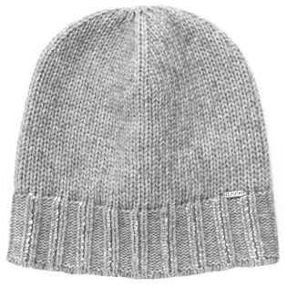 Women's Silver Knit Beanie