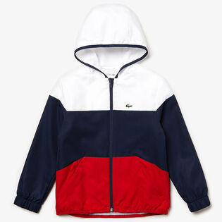 Junior Boys' [10-16] Colourblock Zip Tennis Jacket