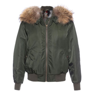 Women's Fur-Lined New York Bomber Jacket