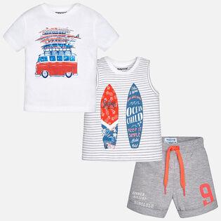 Ensemble Surfer 3 pièces pour bébés garçons [6-24M]