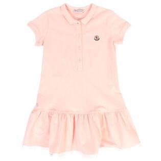 Girls' [4-6] Flutter Pique Polo Dress