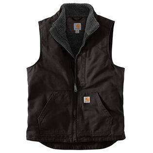 Men's Washed Duck Sherpa-Lined Mock Neck Vest