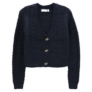 Women's Cropped Knit Cardigan