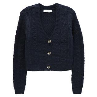 Cardigan court en tricot pour femmes