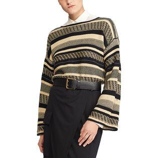 Women's Linen Bell Sleeve Sweater