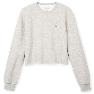 Women's Vintage Crop Crew Fleece Sweatshirt