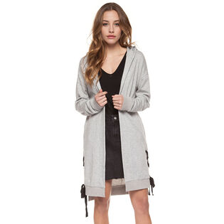Women's Side Lace Hooded Cardigan