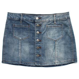Mini-jupe en denim avec poches plaquées pour filles juniors [7-14]
