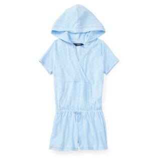 Junior Girls' [7-14] Hooded Cotton Terry Romper
