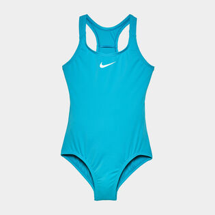 Junior Girls' [7-16] Solid Racerback Sport One-Piece Swimsuit
