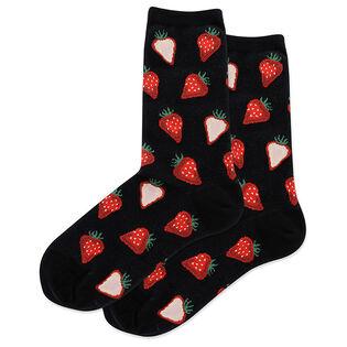 Women's Strawberry Slices Crew Sock