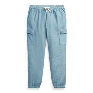 Junior Girls' [7-16] Cotton Chambray Cargo Pant