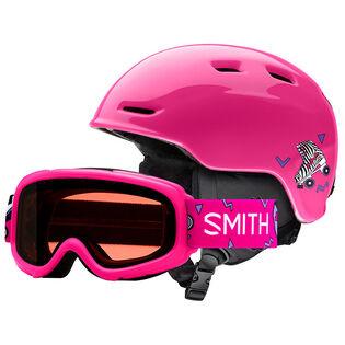 Juniors' Zoom Helmet + Gambler Goggle Combo Set [2020]