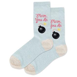 Women's Mom You Da Bomb Crew Sock