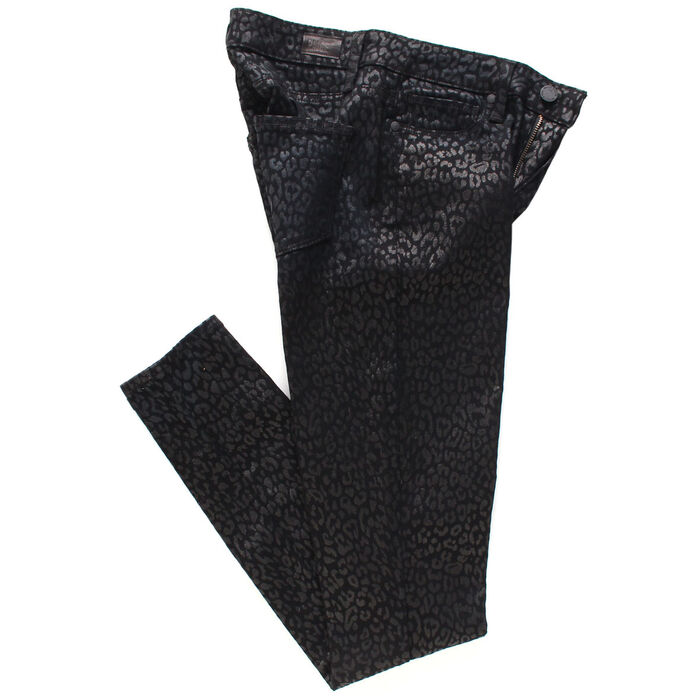 Women's Hoxton Metallic Leopard Noir Jean