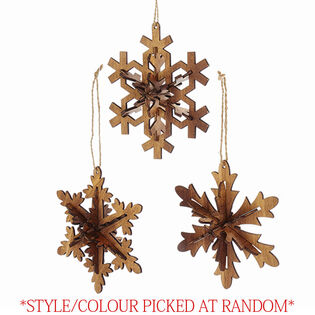 Wooden Snowlake Ornament