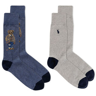 Men's Savannah Bear Crew Sock (2 Pack)