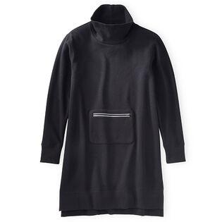 Women's High Mock Fleece Dress