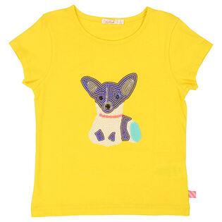 Girls' [3-6] Sequin Dog T-Shirt