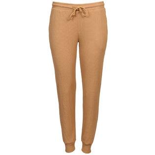 Pantalon de jogging en tricot gaufré pour femmes