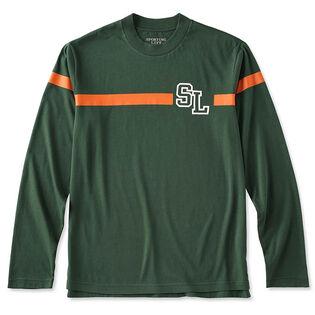 Men's Logo Stripe Long Sleeve T-Shirt