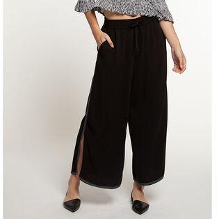 Jupe-culotte à taille élastique pour femmes