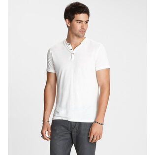 Men's Burnout Henley T-Shirt