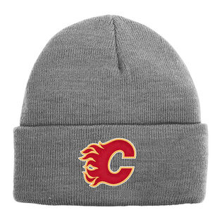 Kids' [4-7] Calgary Flames Heather Knit Beanie