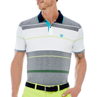 Men's Block Stripe Polo