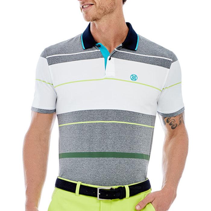 Men's Block Stripe Polo