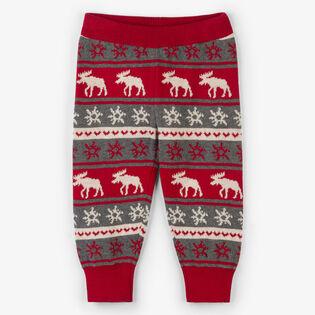 Baby Boys' [6-18M] Fair Isle Moose Sweater Legging