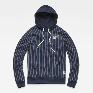 Men's Core Hooded Pinstripe Sweat Hoodie