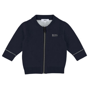 Boys' [12M-3Y] Zip Cardigan Sweater