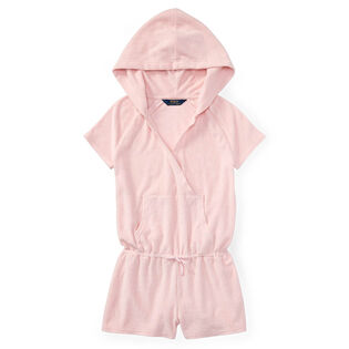 Junior Girls' [7-14] Hooded Cotton Terry Romper