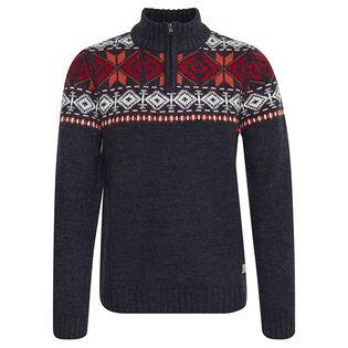 Men's Fair Isle Quarter-Zip Sweater