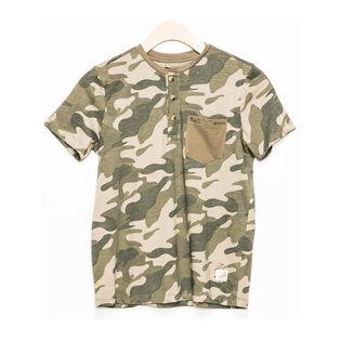 Junior Boys' [7-16] Camo Henley T-Shirt