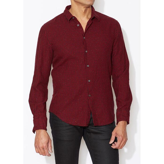 Men's Wire-Collar Check Shirt