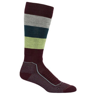 Women's Ski+ Medium Over-The-Calf Wide Stripe Sock