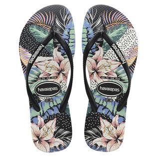 Juniors' [11-4] Slim Animal Floral Flip Flop Sandal