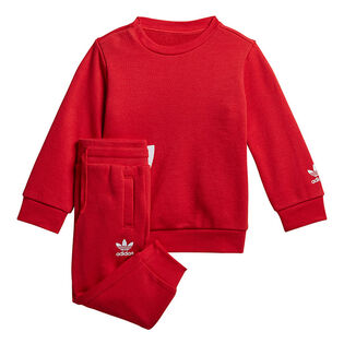 Baby Boys' [6M-3Y] Big Trefoil Crew Two-Piece Set