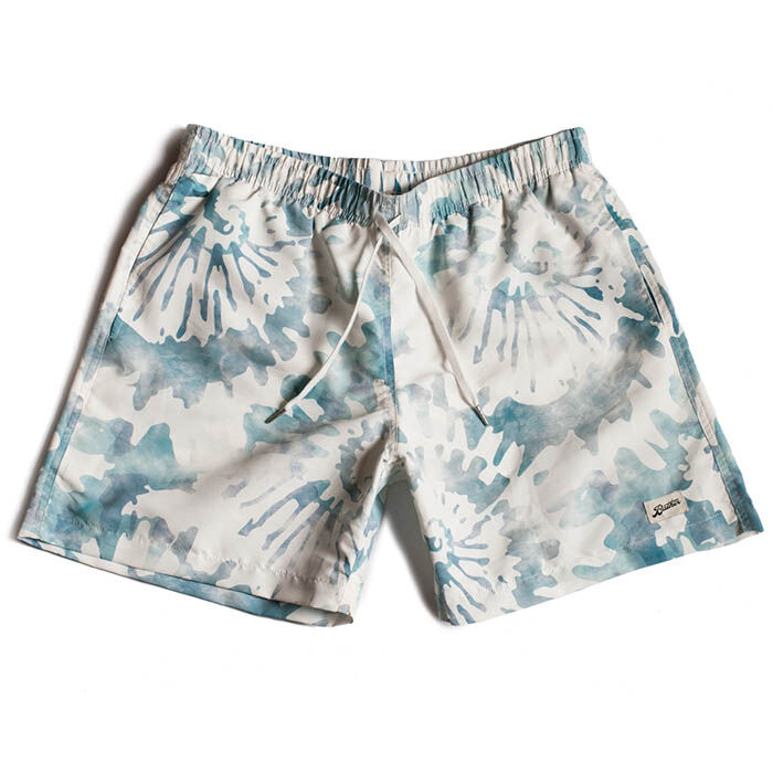 Men's Green Tie-Dye Swim Trunk